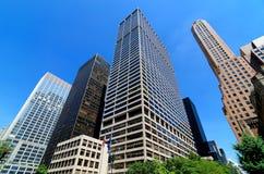 Wolkenkrabbers langs Park Avenue. Stock Foto