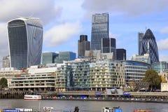 Wolkenkrabbers in Londen Stock Foto