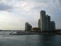 Wolkenkrabbers in Miami stock foto's