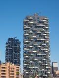 Wolkenkrabbers in Milan Italy Royalty-vrije Stock Foto