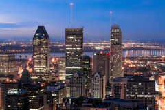 Wolkenkrabbers in Montreal Royalty-vrije Stock Foto