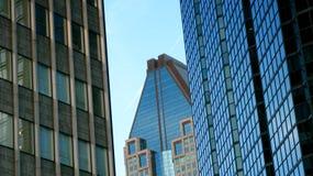 Wolkenkrabbers in Montreal Royalty-vrije Stock Foto's