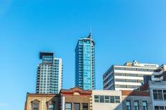 Wolkenkrabbers in Montreal de stad in Royalty-vrije Stock Foto's