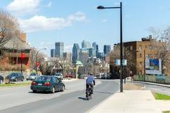 Wolkenkrabbers in Montreal de stad in, Canada stock foto's