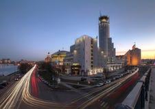 Wolkenkrabbers in Moskou, Rusland stock afbeeldingen