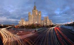 Wolkenkrabbers in Moskou, Rusland Stock Fotografie