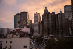 Wolkenkrabbers in New York Royalty-vrije Stock Afbeelding