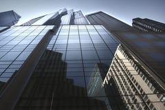 Wolkenkrabbers in NYC Stock Afbeeldingen