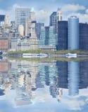Wolkenkrabbers in NYC, de V.S. Stock Foto