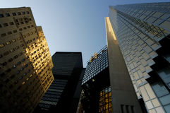 Wolkenkrabbers omhoog Royalty-vrije Stock Foto
