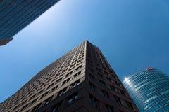 Wolkenkrabbers op Potsdamer Platz Royalty-vrije Stock Foto