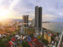 Wolkenkrabbers in Penang, Maleisië Royalty-vrije Stock Foto