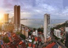 Wolkenkrabbers in Penang, Maleisië Royalty-vrije Stock Foto's