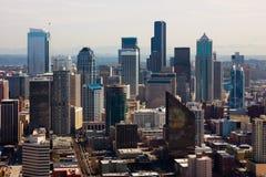 Wolkenkrabbers in Seattle Royalty-vrije Stock Afbeelding