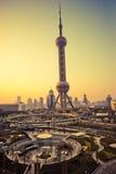 Wolkenkrabbers in Shanghai China Royalty-vrije Stock Foto