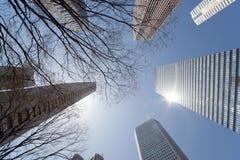 Wolkenkrabbers in Shinjuku het Westen, Tokyo - Japan Royalty-vrije Stock Afbeeldingen