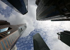 Wolkenkrabbers in Singapore Royalty-vrije Stock Afbeelding