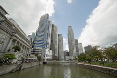Wolkenkrabbers in Singapore Stock Fotografie