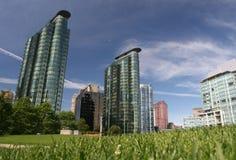 Wolkenkrabbers in stad Stock Fotografie