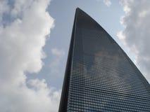 Wolkenkrabbers, stad de bouw van Pudong, Shanghai, China Royalty-vrije Stock Afbeelding