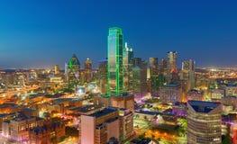 Wolkenkrabbers, Stad van Dallas, Texas, de V.S. Royalty-vrije Stock Fotografie