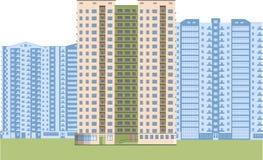 Wolkenkrabbers Stadsdistrict Stock Afbeelding