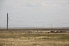Wolkenkrabbers in steppe Royalty-vrije Stock Foto's
