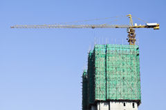 Wolkenkrabbers tegen een blauwe hemel in het centrum van Peking, China Royalty-vrije Stock Afbeeldingen