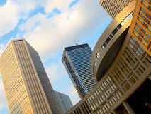 Wolkenkrabbers. Tokyo stock foto's
