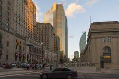 Wolkenkrabbers in Toronto Stock Foto's