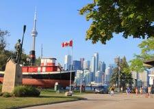 Wolkenkrabbers in Toronto, Financieel Centrum Stock Foto's