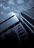 Wolkenkrabbers, typische stedelijke cityscape royalty-vrije stock afbeeldingen