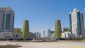 Wolkenkrabbers van Astana stock videobeelden