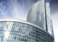 Wolkenkrabbers van commercieel de Stad centrummoskou stock foto
