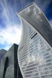 Wolkenkrabbers van commercieel de Stad centrummoskou royalty-vrije stock foto's