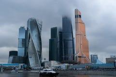 Wolkenkrabbers van de stad van Moskou Royalty-vrije Stock Fotografie