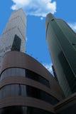 Wolkenkrabbers van de stad van Moskou Stock Foto