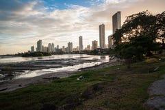 Wolkenkrabbers van de Stad van Panama Stock Afbeeldingen