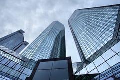 Wolkenkrabbers van Frankfurt stock fotografie