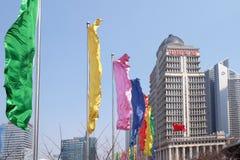 Wolkenkrabbers van het Lujiazui de financiële district in Shanghai Stock Fotografie