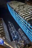 Wolkenkrabbers van Hongkong Royalty-vrije Stock Foto's