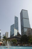 Wolkenkrabbers van Hongkong Royalty-vrije Stock Fotografie