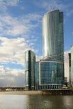 Wolkenkrabbers van MIBC in Moskou, Rusland Royalty-vrije Stock Afbeeldingen