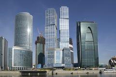 Wolkenkrabbers van MIBC in Moskou, Rusland Royalty-vrije Stock Foto's