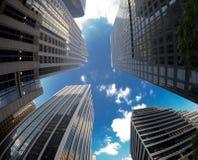 Wolkenkrabbers van New York Royalty-vrije Stock Afbeeldingen