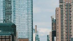Wolkenkrabbers van New York stock video