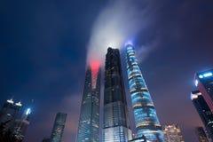 Wolkenkrabbers van Pudong, Shanghai, China Royalty-vrije Stock Fotografie
