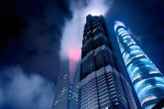 Wolkenkrabbers van Pudong, Shanghai, China Royalty-vrije Stock Foto