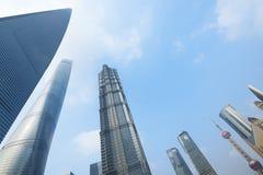 Wolkenkrabbers van Shanghai Stock Foto