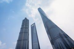 Wolkenkrabbers van Shanghai Royalty-vrije Stock Foto's